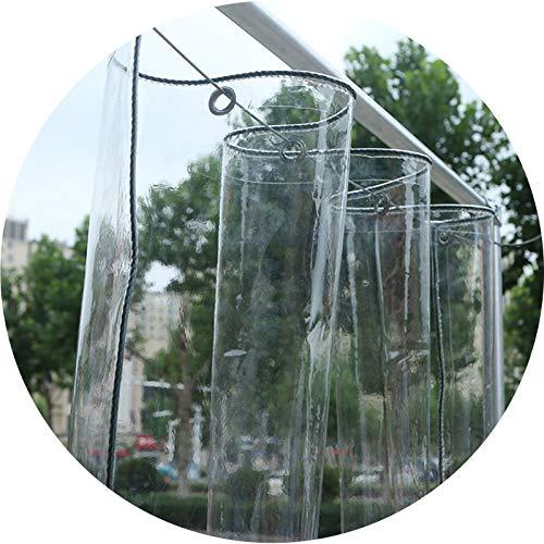 ZHAIHL PVC Lonas Transparente, Impermeable Lona Funda, Refuerza Las Cuatro Esquinas para Invernaderos Graneros Personalizable (Color : Clear, Size : 5x6m)