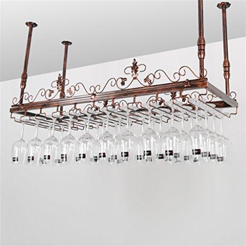 Etagère à bouteille Racks Verres, Style Européen Style Plafond Monté Porte-Bouteille De Vin En Métal Fer Goblet Verre À Vin Rack - Diverses Tailles Disponibles