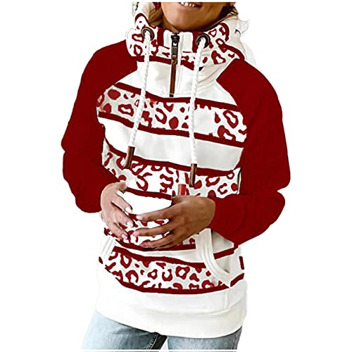 Womens Long Sleeve Sweatshirts Half Zipper Hoodies Tops Casual Pullover Fall 2021 Sweater Teens Girls