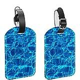 AITAI Etiquetas para equipaje de piscina azul transparente para maletas, paquete de 2, identificador de viaje para bolsas y equipaje