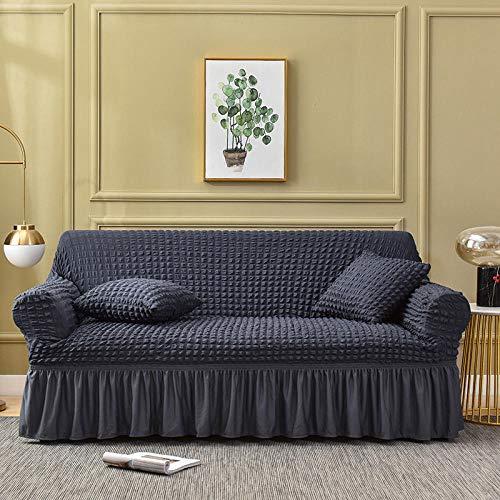 Fsogasilttlv Muebles elásticas Fundas de sofá,Elastic Sectional Corner Sofa Covers For Living Room, Couch Cover Anti Slip Couch Slipcover-Dark Gray 1 Seater 70-120cm(1pcs)