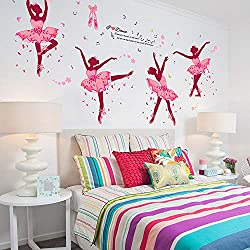 Elevin(TM) DIY Ballet Girl Removable Wall Decal Family Home Sticker Mural Art Home Decor