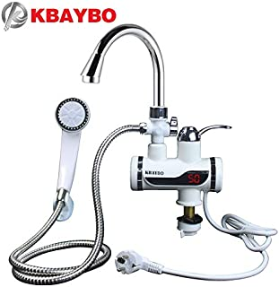 Electric Water Heaters | Water Lectric Kitchen Tap Heater Bathroom Instant Kitchen Water Heater LCD Faucet Tankless Temperature Display Tap | by NAHASU