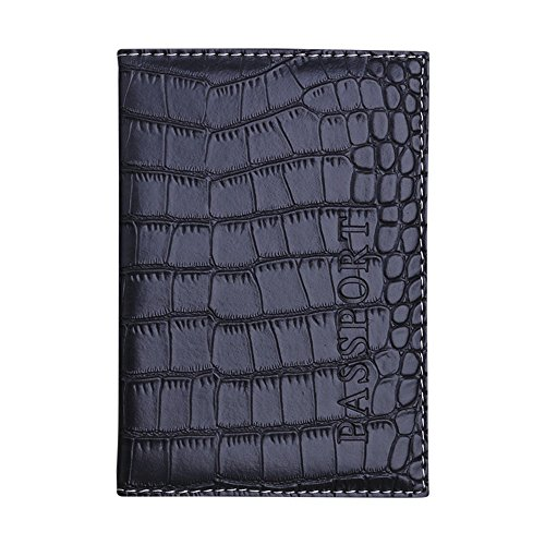 DOLDOA Damen Rucksack Handtasche,Passport Holder Protector Wallet Visitenkarte Soft Passport Cover Leder (Schwarz)