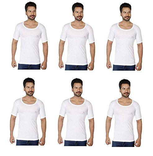 RUPA Frontline Men's Cotton Vest (White, 100) -Combo of 6