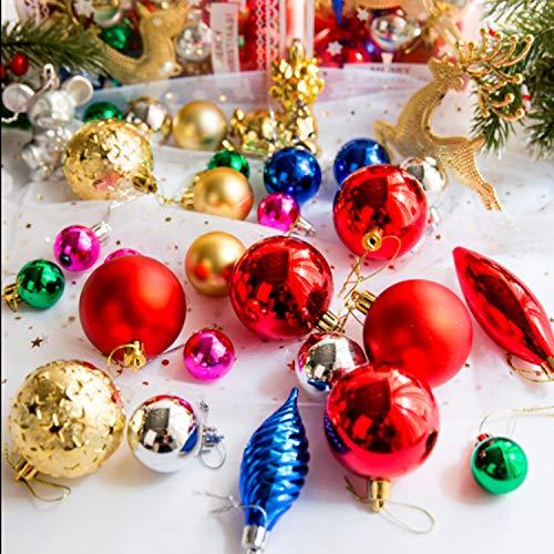 Decorazioni per L'albero di Natale, PTN Palle di Natale, Palla Leggera, Palla da Appendere Decorativa Dipinta, Ornamenti per Decorazioni per Feste di Matrimonio, 30 Pezz