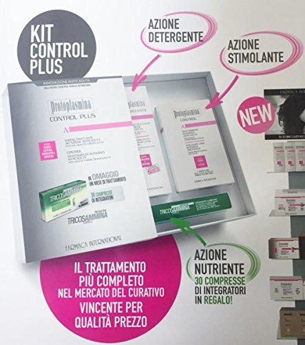 PROTOPLASMINA CONTROL PLUS KIT ANTICADUTA SHAMPOO 300 ml + BIOSTIMOLANTE control + INTEGRATORE Tricosammina