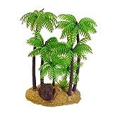 NaisiCore Plástico de la Palmera de la Planta bajo el Agua del Ornamento del Acuario, 5,4-Pulgadas, Verde/marrón Suministros Beach