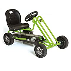 Function: This Pedal Go Kart provides an authentic driving experience and allows the driver to control their speed. Lightning is designed to be the perfect pedal go kart for young drivers and can be used to ride both indoor and outdoor. It encourages...