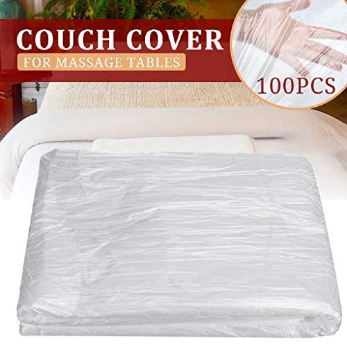 JSxhisxnuid 100 Stück Ölresistenter Bezug für Massageliege, Einweg-Bettwäsche wasserdichte Massageliegenbezug SPA Salon Massage Tischlaken, 90 x 180 cm