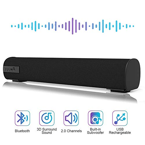 Sound Bar Bluetooth Wired and Wireless Mini Soundbar Surround Sound Home Theater Built-in