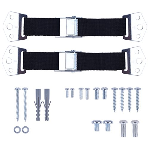Baby Proofing Tv&Furniture by CUTESAFETY - Anti Tip Safety Straps Pack of 2 - Child Proof Kit for Dresser,Cabinet,Shelves
