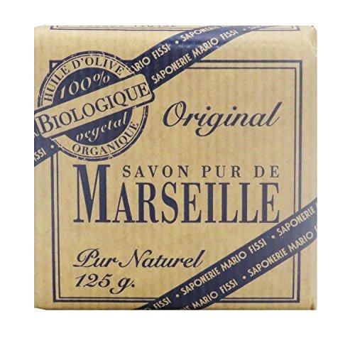 Savon de Marseille pur biologique, 125 g.
