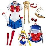 Sailor Moon Tsukino Usagi Anime Cosplay Disfraces Mujer Halloween Vestido Completo