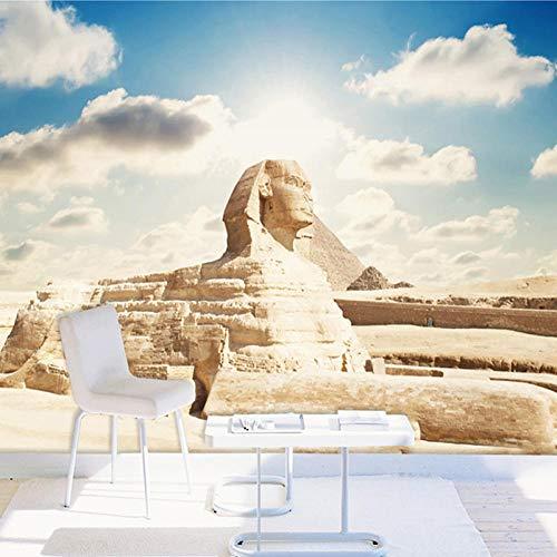 Papel tapiz fotográfico 3D personalizado Esfinge egipcia clásica Mural grande Sala de estar Dormitorio Oficina TV Fondo de pantalla Decoración del hogar,430(W)*300(H)cm