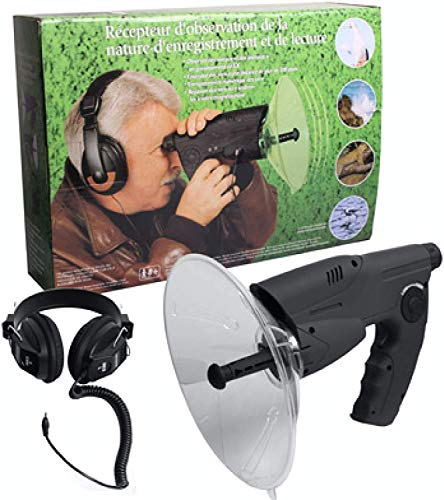 SLWXZXD Micrófono parabólico monocular X8 Bionic Ear Larga Distancia Aves Telescopio 200 m