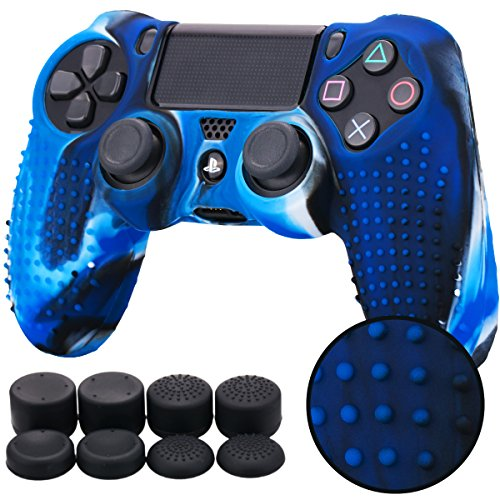 Pandaren® STUDDED silicone cover skin anti-slip for PS4/ SLIM/ PRO...