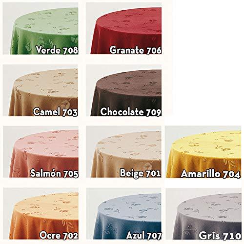 Falda para Mesa Camilla Modelo Deluxe 792, Color Camel 703, Medida Redonda 80/223cm Ø (También Disponible en Distintos Colores, Formas y Medidas): Amazon.es: Hogar