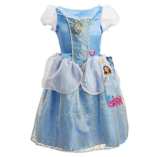 """Disney Princess Cinderella Dress Costume, Sing & Shimmer Musical Sparkling Dress, Sing-A-Long to """"A Dream is A Wish Your Heart Makes"""" Perfect for Party, Halloween or Dress Up [Amazon Exclusive]"""