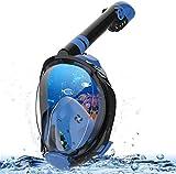 MADETEC Full Face Snorkel Mask Adult Kids Snorkel Set, 2020 Upgraded Snorkeling Swim Mask with 180°Panoramic View, Detachable Camera Mount, Anti-Fog and Anti-Leak (Small/Medium)