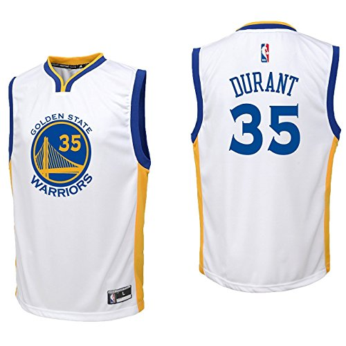 Kevin Durant Golden State Warriors #35 White Youth Home Replica Jersey Small 8