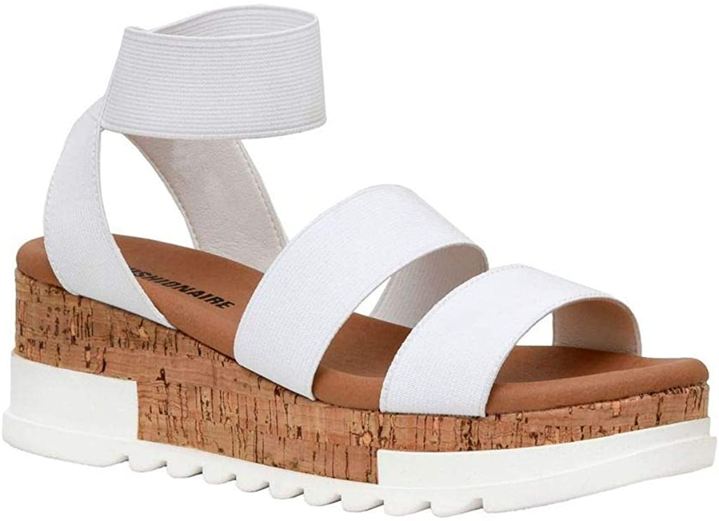 Women's Cushionaire Naomi Cork Wedge Sandal +Wide Widths Available