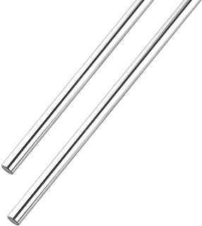 S SIENOC Linear Motion Rods/Shafts/Guides 8mm 2Pcs, Case Hardened Chrome 450MM