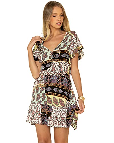 Wrangler Short Sleeve Paisley Print Dress Paisley XL