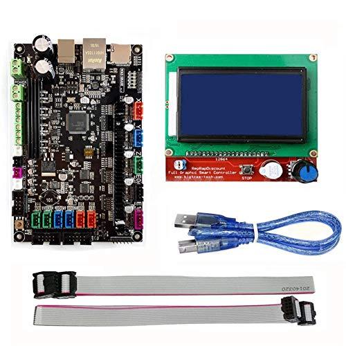 QuanRuiWuLiu Componentes de impresión en 3D MKS-SBASE Control de Placa Base Junta V1.3 + rampas Pantalla LCD 1.4 12864 for Impresora 3D, Duradero