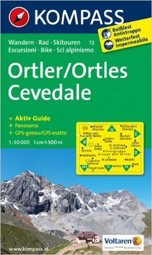 Ortler /Ortles - Cevedale: Wanderkarte mit Aktiv Guide, Panorama, Rad- und alpinen Skirouten. GPS-genau. 1:50000. (KOMPASS-Wanderkarten) ( Folded Map, Juli 2012 )