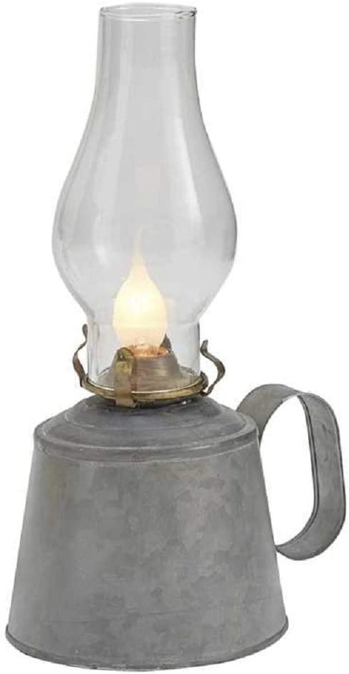 Courier shipping free shipping Park Dedication Designs Small Galvanized Oil with Globe Lamp