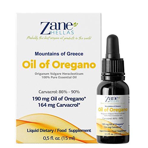 Zane Hellas 100% Undiluted Oregano Oil. Greek Essential Oil of Oregano .86%...