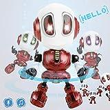 Dookey Sprechender Roboter Spielzeug, Intelligente Kinderspielzeug mit Wiederholen Tonaufnahme Funktion, Interaktive Sprachsteuerung Touch Bunte Blinklichter, Lernspielzeug Jungen Mädchen