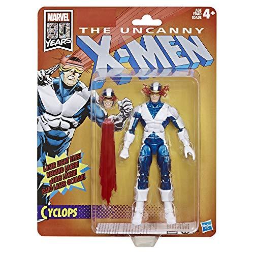 Marvel Retro Ventilador de 6 Pulgadas colección Cyclops (X-Men) Figura de acción Juguete Super Hero Collectible Series, Color sí. (Hasbro)