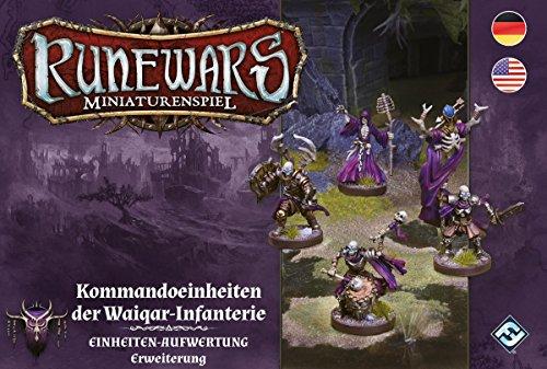 Fantasy Flight Games FFGD0118 Runewars Miniaturenspiel-Kommandoeinheiten der Waiqar-Infanterie