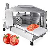 Commercial Tomato Slicer 3/16' Heavy Duty Tomato Cutter with Built-in Polyethylene Slide Board for Restaurant or Home Use