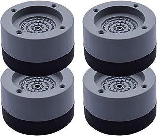 Vibrationsdämpfer, Queta 4 Stück Antivibrationsmatte Vibrationsdämpfer für Waschmaschine & Trockner 4cm Grey, 4cm
