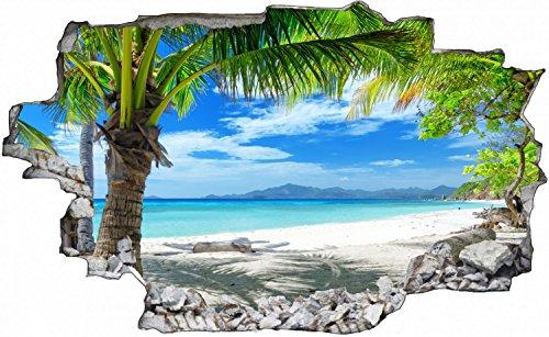 Palmen Meer Strand Beach Karibik Wandtattoo Wandsticker Wandaufkleber C0316 Größe 100 cm x 150 cm