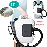 Fencia Electric ULV Sprayer Fogger Backpack, 10L Portable Cold Fogging Machine Disinfection, Ultra Low Capacity Fog Sprayer Atomizer Machine 110V 1200W for Indoor Outdoor