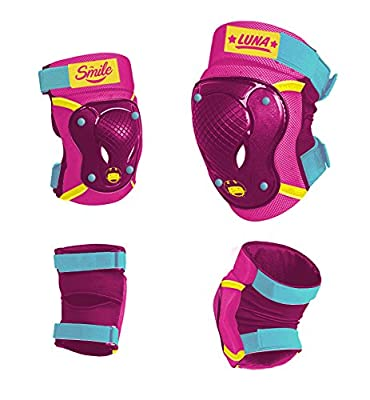 Disney Kinder Elbow Knee Skate Protectors Soy Luna Sports, Mehrfarbig, S