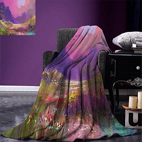 Luoiaax - Manta de Microfibra para Todas Las Estaciones, diseño de Flores y Bosque, Multicolor