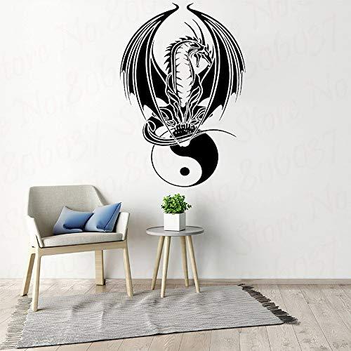 Woondecoratie Wallpaper Art Viny verwijderbare sticker China Dragon Yin Yang Laptop Vinyl Decal 63x73.5cm