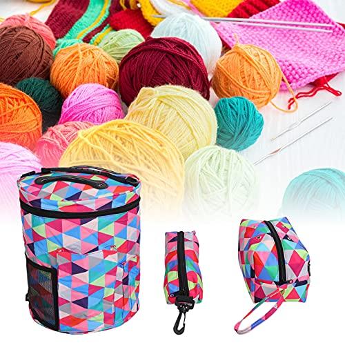 Bolsa organizadora para tejer, bolsa para tejer, color suave, buena resistencia, para evitar enredos, soporte recto para manualidades, álbumes de recortes, maletas para accesorios de tejer