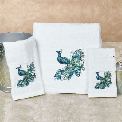 Peacock Embroidered Bath Towel Set