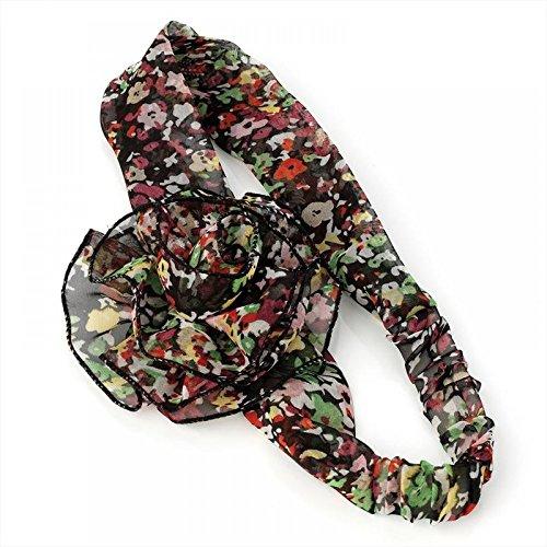 Motif de fleur Motif floral en mousseline de soie Sensation Bandeau Cheveux Band Wrap