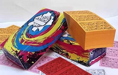 Cartones de bingo. Pack de 900 unidades numeradas. Troquelados para facilitar la marca sin llegar a desprenderse del todo. Fabricados para Regalos Latorre con cartón de alta calidad: 240 gr./m2.