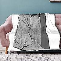 "La Meack 鬼滅の刃 Pompom Fringe Blanket カバーは本体に圧力がかからず、耐久性があり、コンパクトに折りたたむことができます。 非常に柔らかく、手触りが良く、ベッド、ソファ、キャンプ、冷たい映画館、旅行に適しています 60""X50"""