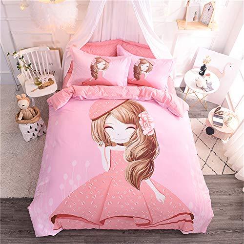 yaonuli Baumwolle Cartoon Anime vierteilige Baumwolle Matratze Kinder Schatz Baby 1,5 m Bettbezug 200x230 Blatt 250x250