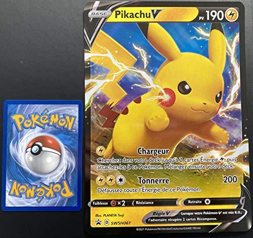 Carte Pokemon Pikachu SWSH061 Promo Ultra Rare V Jumbo EB4.5 FR Neuf