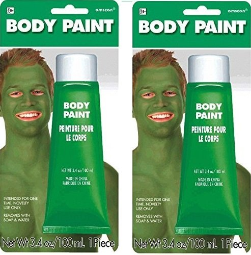 Green Body Paint, 3.4 oz (2 Pack)